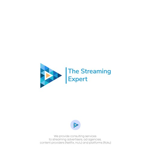 Modern and professional logo design concept for a streaming tv consultant