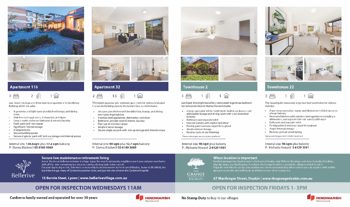 Double Page Real Estate Advertisement