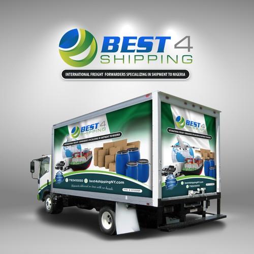 Best 4 Shipping Truck Wrap