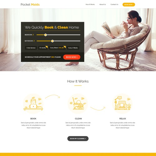 Maid Services Homepage design