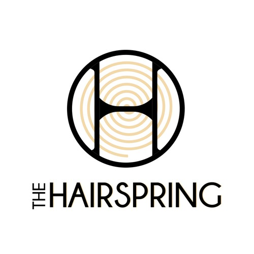Elegant logo design for Hairspring - watch company