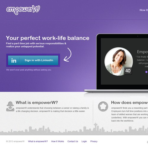 Help www.empowerw.com with a new website design