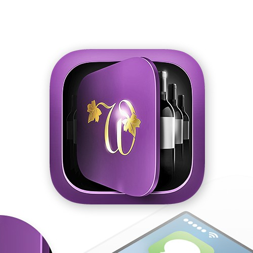 Modern, elegant iOS app icon for CellarZen