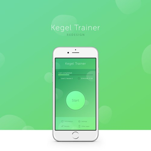 Fitness app redesign