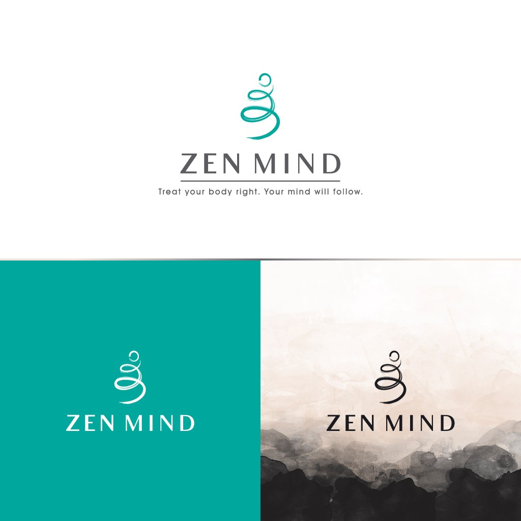 Make a creative logo for Zen Mind brand (friendly and simple)