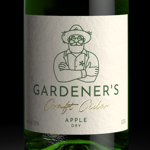 GARDENER'S Cider Label Design