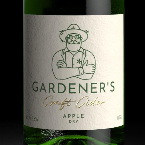 """园丁的苹果酒标签设计""""title="""