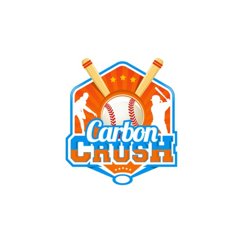 Create a modern logo for a girls fast pitch softball team
