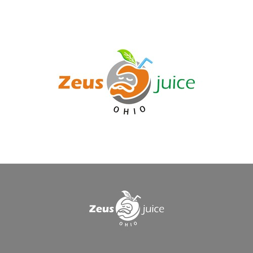Hand draw logo for juice