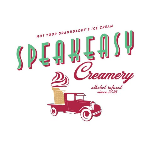 Logo for startup alcohol infused ice cream to be seen by many on retail basis