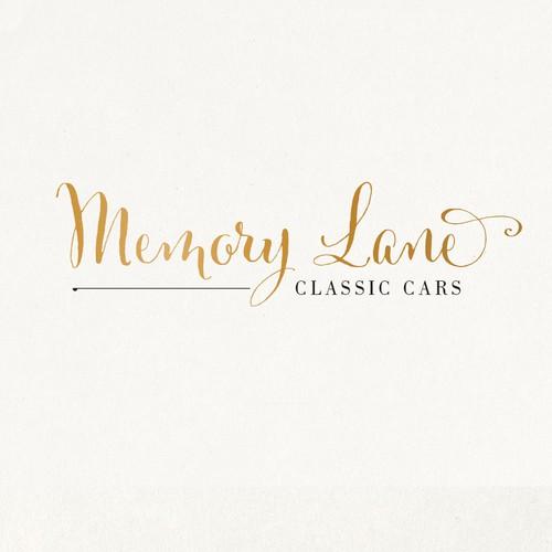 Create a logo for Cadillac Memory Lane Classic Cars Weddings
