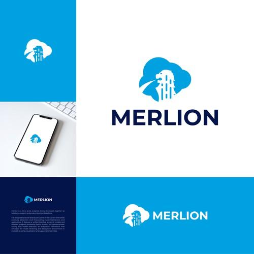 Merlion Logo | Singapore logo | Lion Logo | Cloud Logo