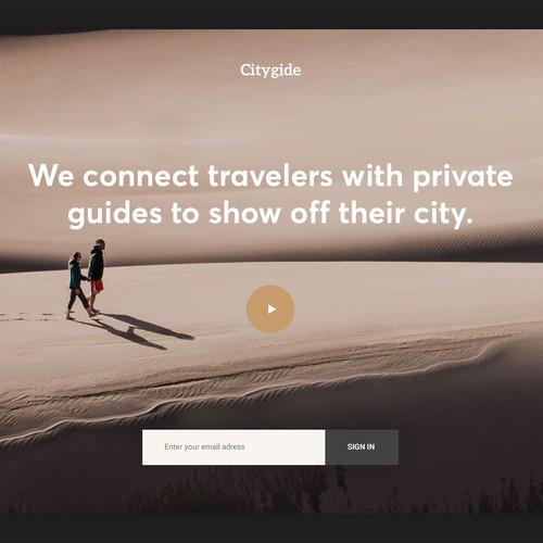 CityGide Landing page