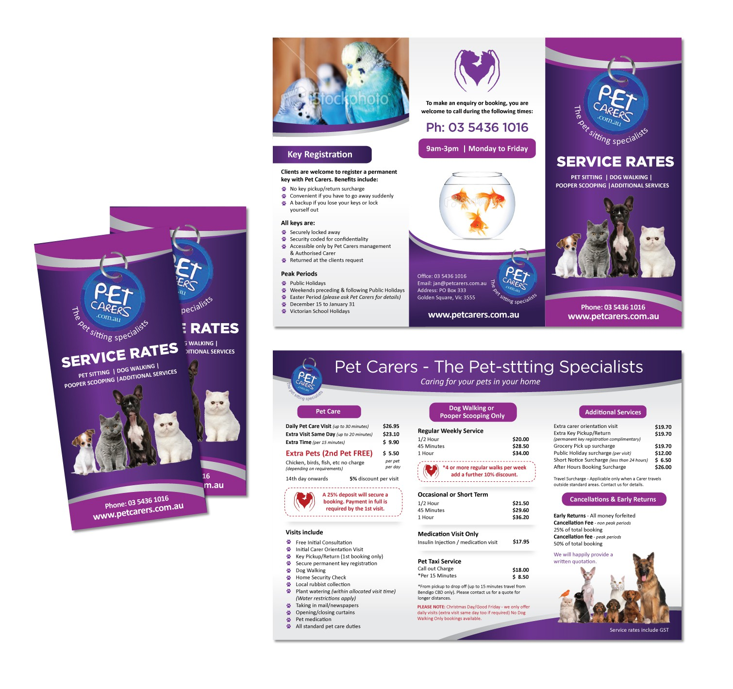 Help Petcarers-The Pet Sitting Specialists with a new stationery