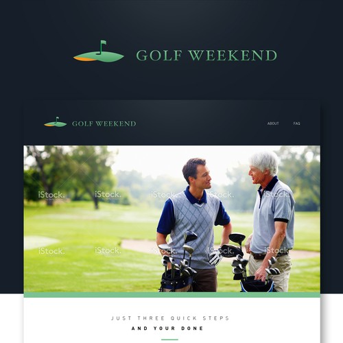 Golf Weekend Website Design