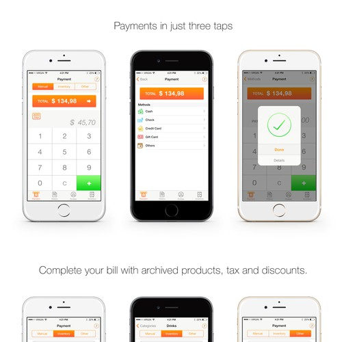 Easy to use iOS payments app