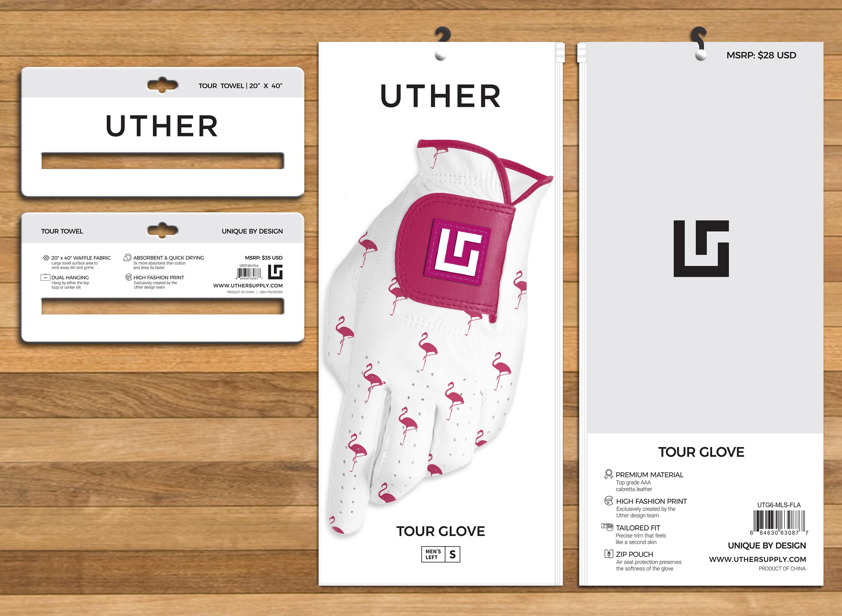 Golf Towel Header / Glove Packaging Redesign