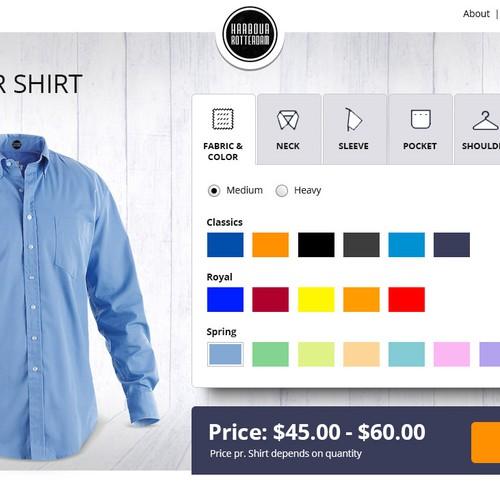 Custom shirt creation