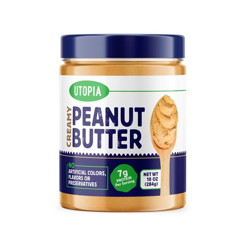 Peanut butter - modern label design