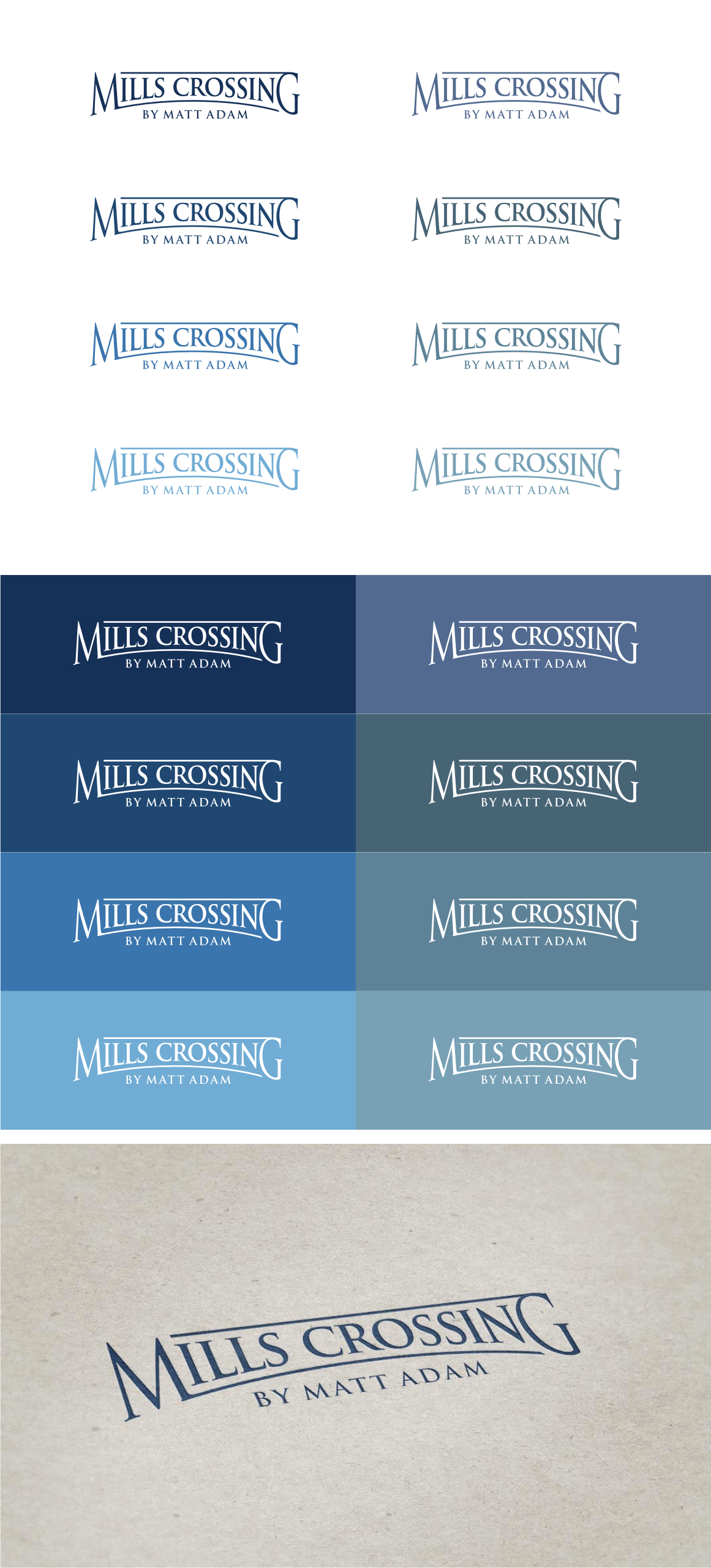 Design a logo for the Mills Crossing community!