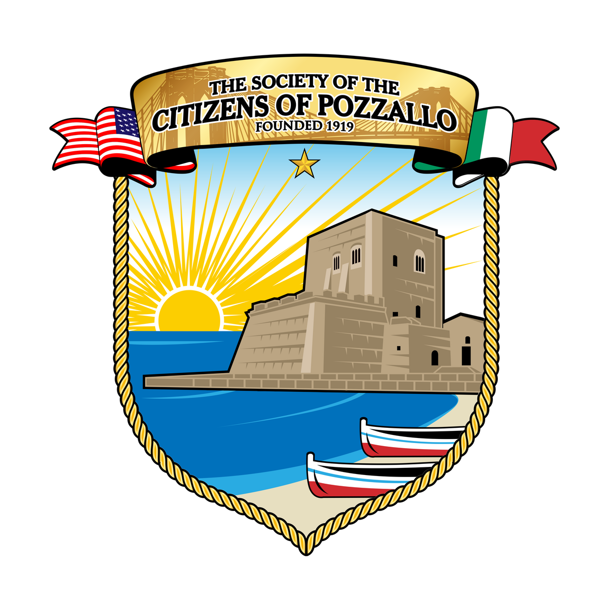 Final touches on - Re-Styling of The Society of the Citizens of Pozzallo logo
