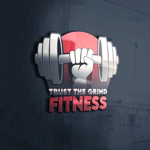 Trust the Grind Fitness Logo Design