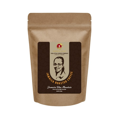 Simple label design for a coffee producer