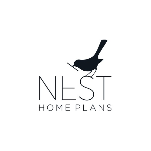 Nest Home Plans Logo Design