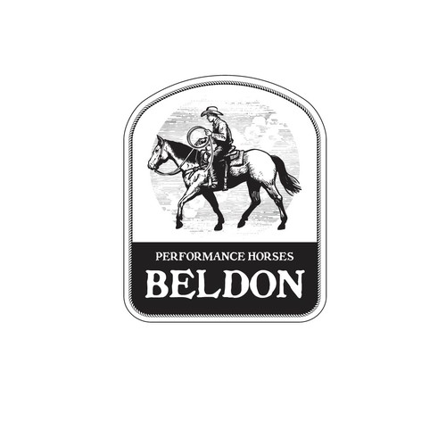Logo for our high end performance horse business.