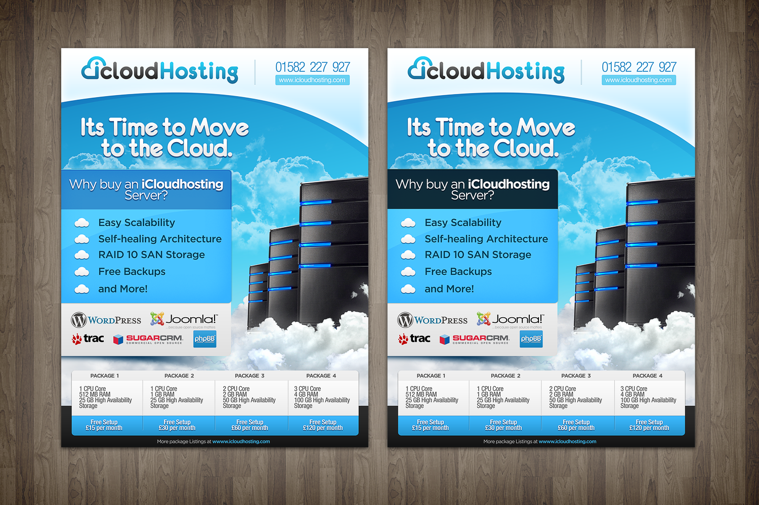Help iCloudHosting with a new print or packaging design