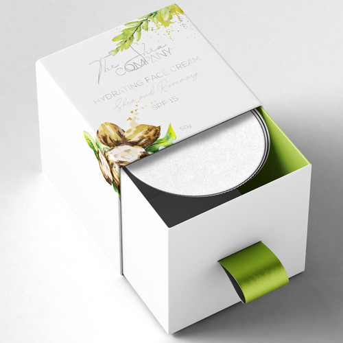 Luxury packaging for a face cream
