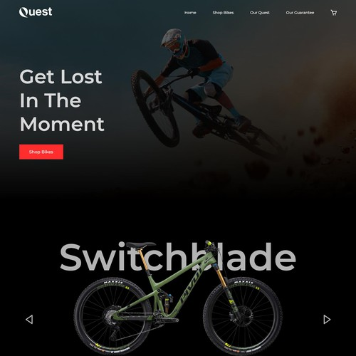 Mountain Bikes E-commerce Landing Page