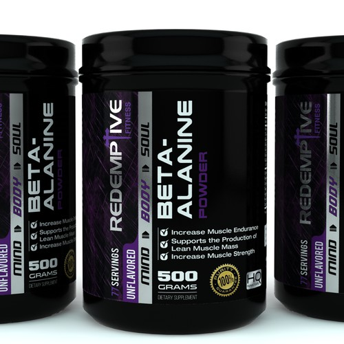 unique, clean and masculine packaging design for Redemptive Fitness