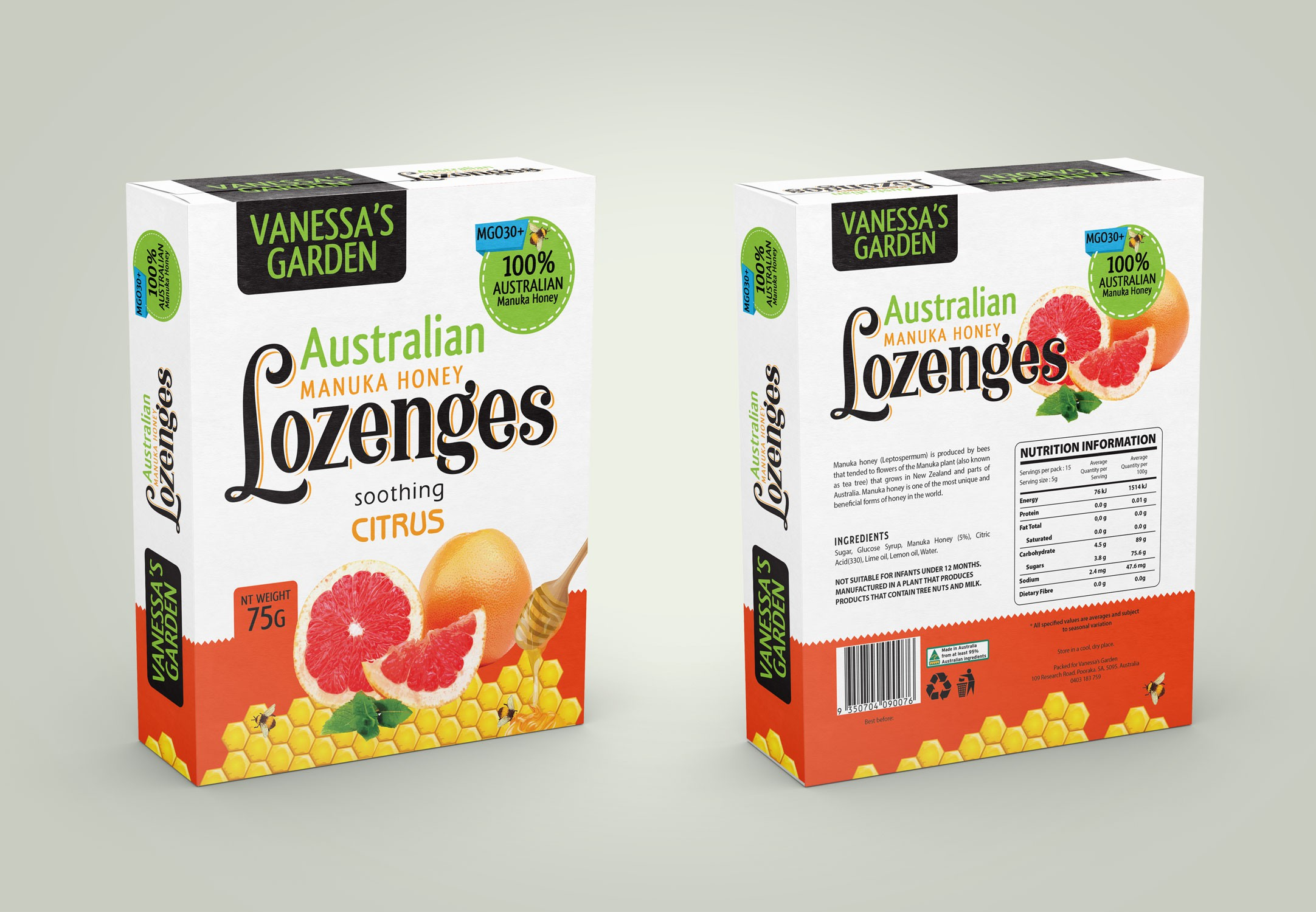 Australian Maunka Honey Lozenges( second variants)