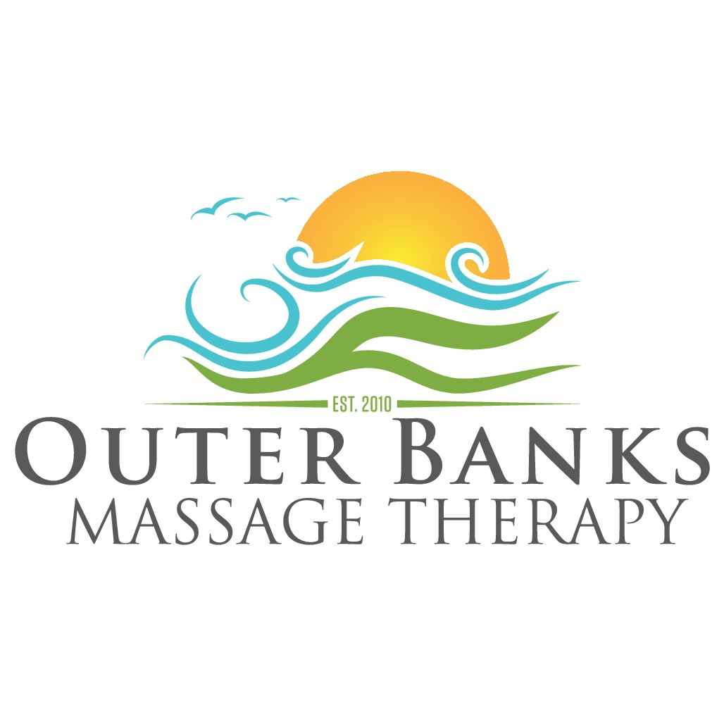 Beach theme incorporated into Massage Therapy logo