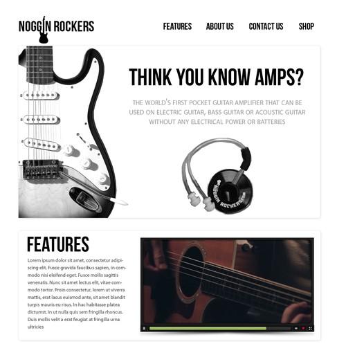 Noggin Rockers  needs a new website design
