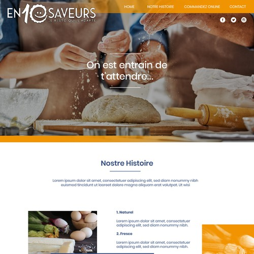 Web Design - Restaurant and Bakery