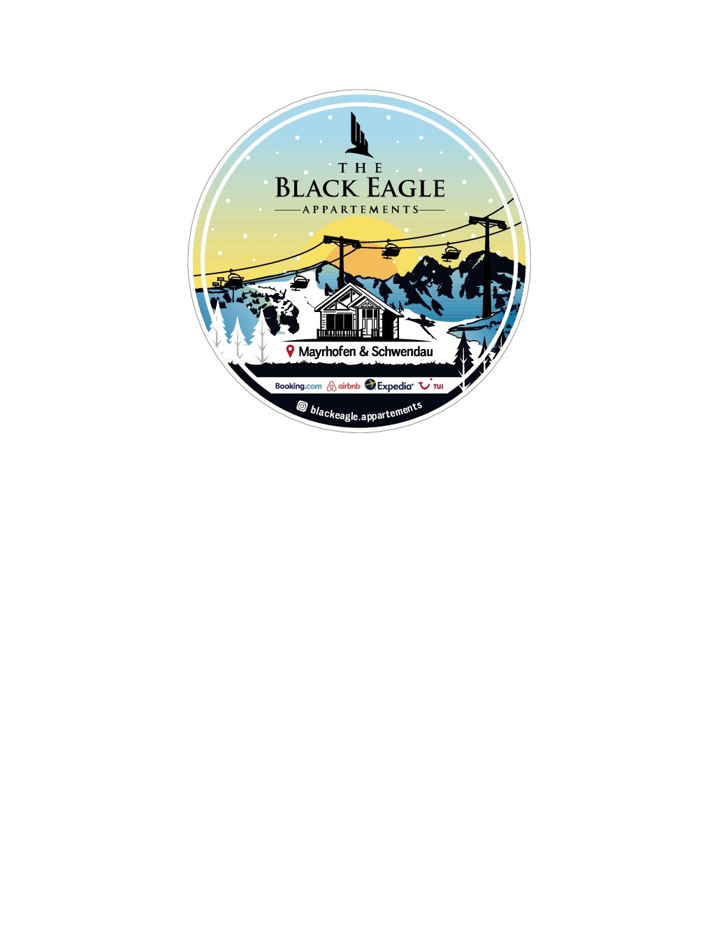 Black Eagle Appartement Sticker