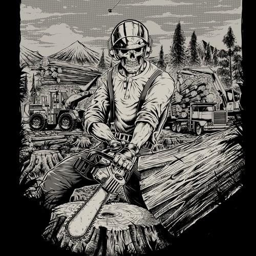 skull logger