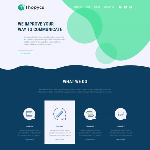 Landing page with a fun mood