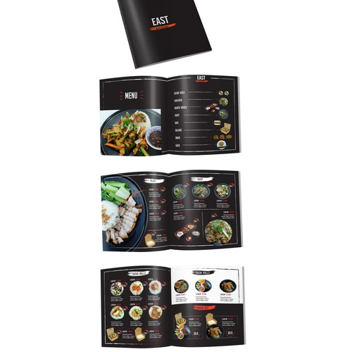 Create menu for Vietnamese restaurant