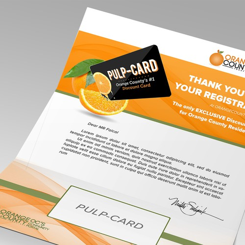 Create a Contemporary, Catchy, Fun Discount Card Mailer