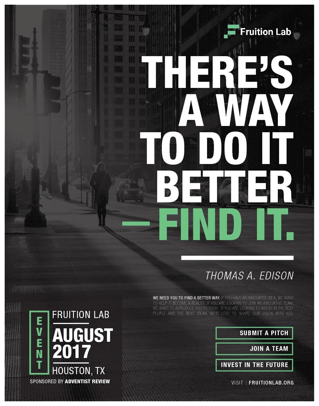 Minimal Magazine AD needed targeting entrepreneurs, innovators, and investors.