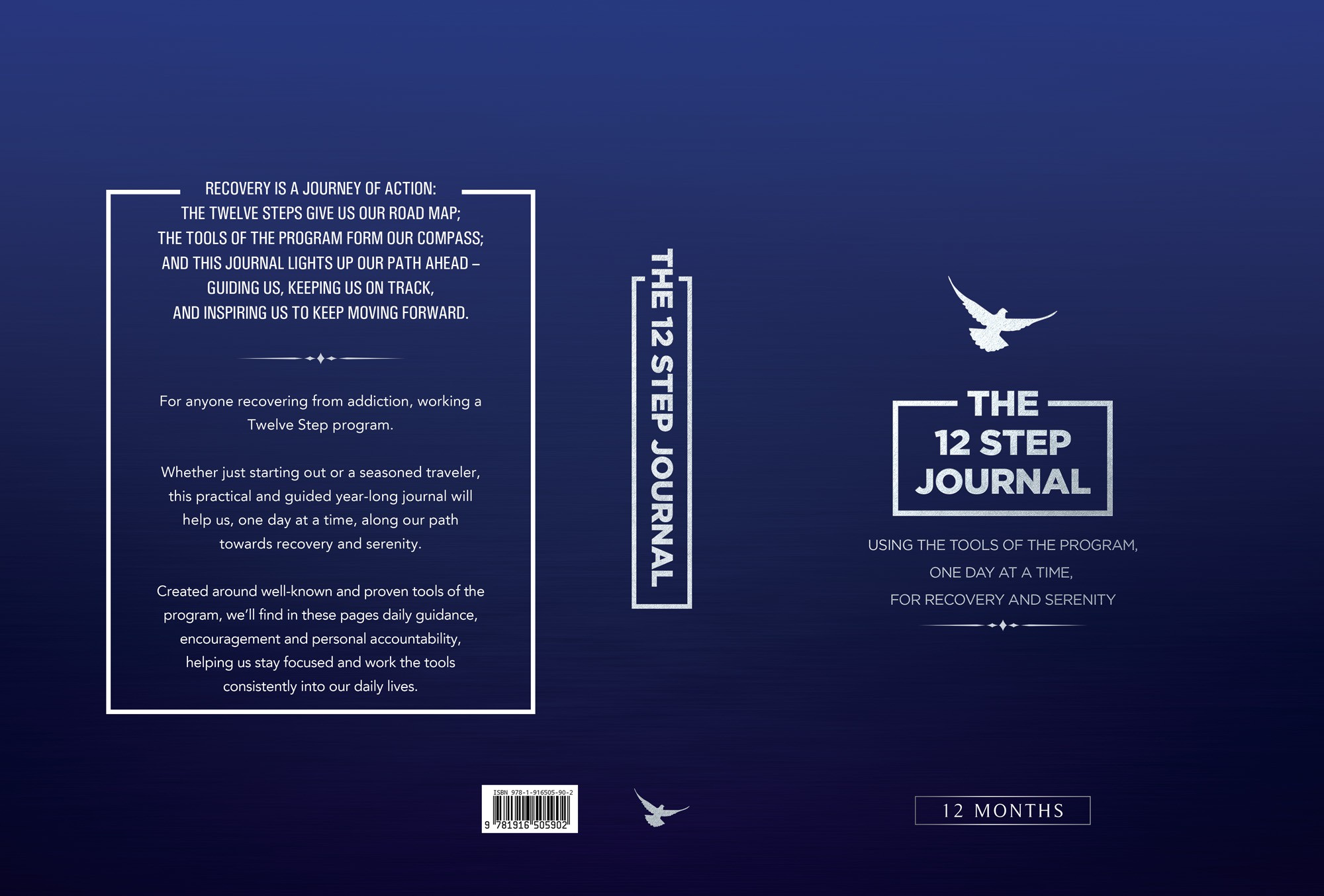 Design a classy and inviting book cover for a journal