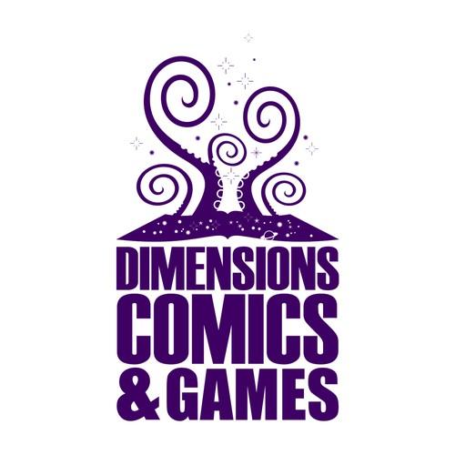 Comics & Games Store Logo Design