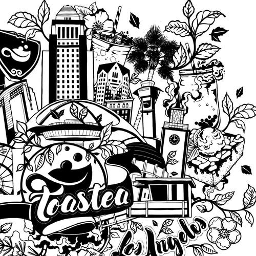 为Toastea Cafe设计独特的瓶子!