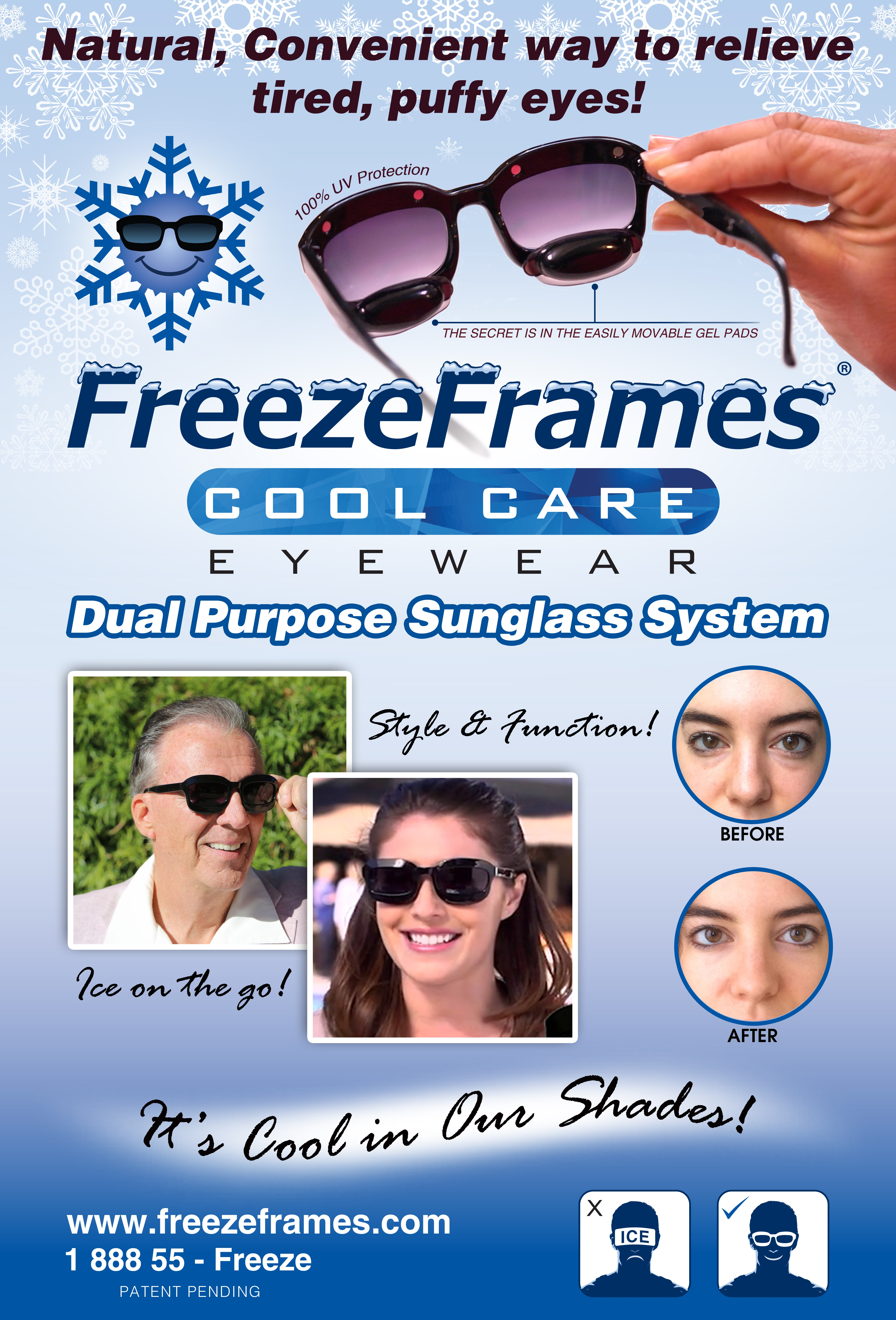 FreezeFremes booth banner