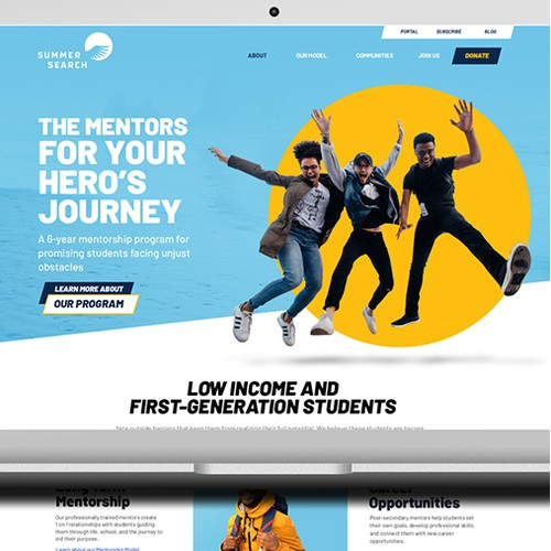 Non profit organisation Landing page design