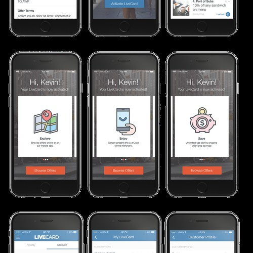 Follow up work for LiveCard app.