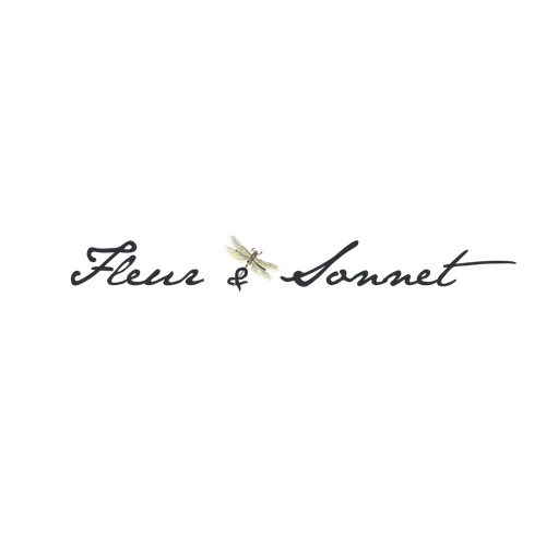 Logo concept for floral romantic clothing for young women